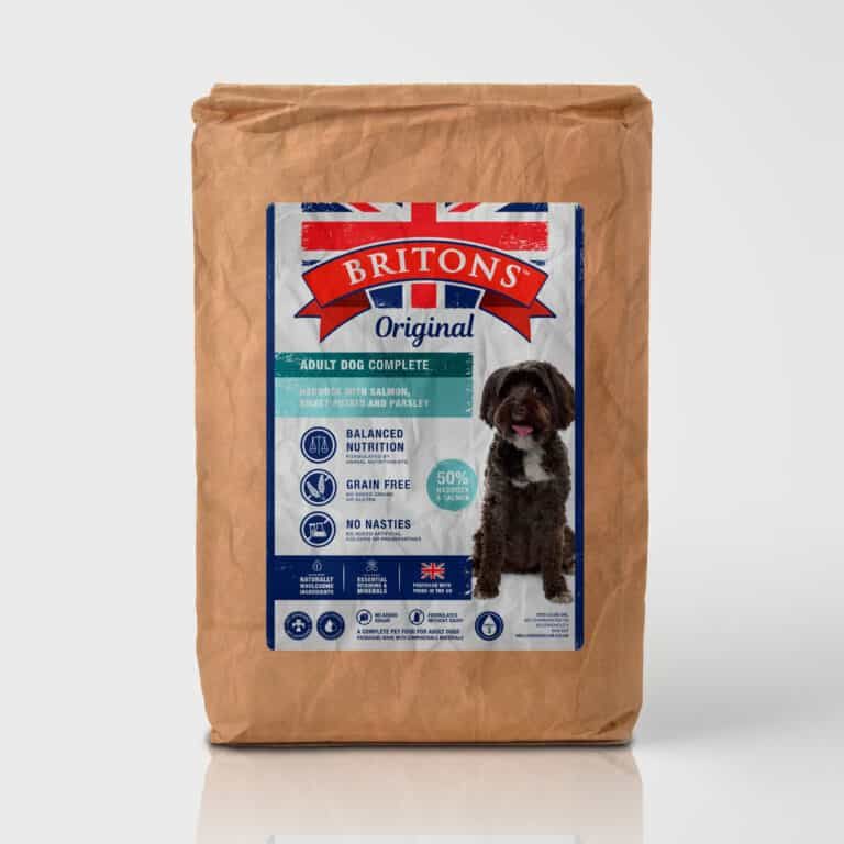 haddock salmon sweet potato parsley adult dog grain free complete dry dog food hypoallergenic britons original