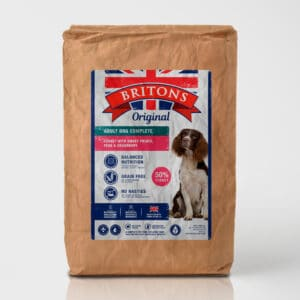 Turkey with Sweet Potato, Peas & Cranberry- Britons Original Complete Dog Food