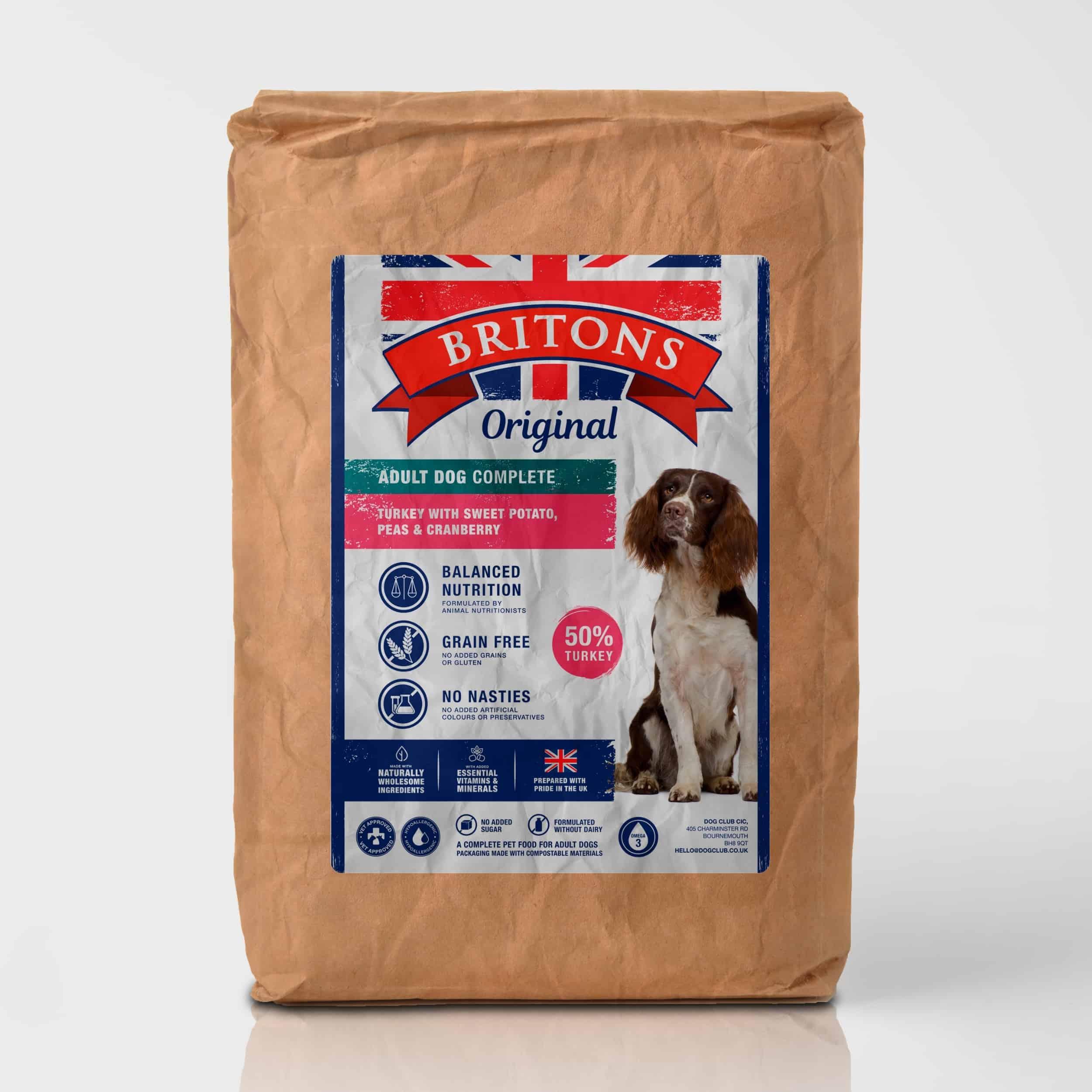 Turkey with Sweet Potato, Peas & Cranberry- Britons Original Complete Dog Food